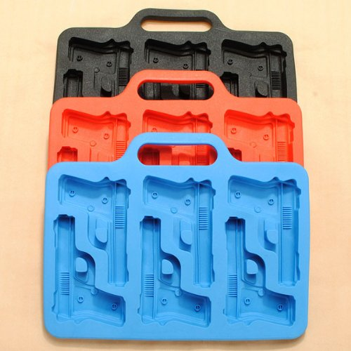 Gun Pistol Freeze Party Bar Ice Jelly Silicone Mold. (Waring Pistol Pro compare prices)