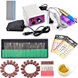 Complete Electric Nail Drill Machine Manicure Pedicure Kit Professional Electric Nail Art File Drill 20000 RPM...
