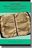 The Freer Biblical Manuscripts: Fresh St...