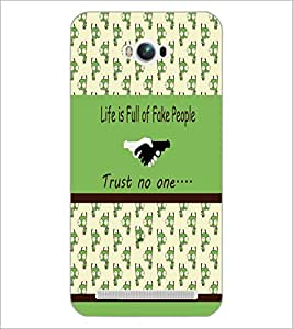 PrintDhaba Quote D-3834 Back Case Cover for ASUS ZENFONE MAX ZC550KL (Multi-Coloured)