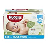 HUGGIES Natural Care Unscented Baby Refill Wipes, 648 Count