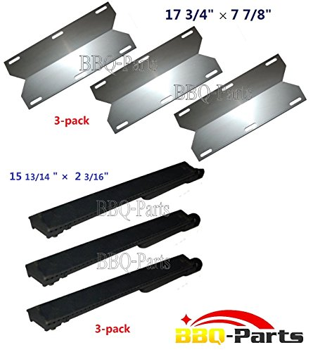 Gas Grill Repair Kit Replacement Grill Heat Plate And Burner For Jenn-Air And Nexgrill 720-0163 And 730-0163 - 3 Pack (Bbq Parts # 26301,92631)