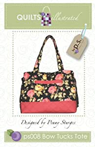 Quiltsillustrated Bow Tucks Tote Bag Sewing Pattern