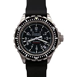 MARATHON WW194006 GSAR Swiss Made Military Issue Milspec Diver's Automatic Watch US Government Dial with Tritium Illumination