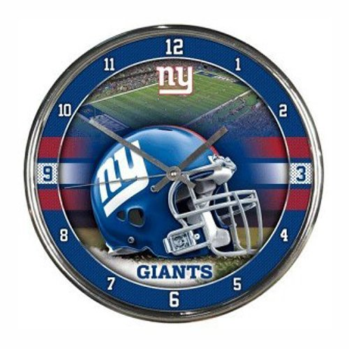 NFL New York Giants Chrome Clock
