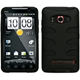 MyBat HTCEVO4GHPCSK040NP Rubberized Fishbone Protective Case for HTC Evo 4G - 1 Pack - Retail Packaging - Black