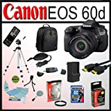 Canon EOS 60D DSLR Camera Kit with Canon EF-S 18-200mm IS Lens With Deluxe Accessory Kit with 8GB SDHC Memory Card, Opteka High Capacity LP-E6 Extended Battery, Opteka 72mm UV Filter and Much More!