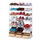 Cutting-Edge PRIMA FREESTANDING 21 PAIR SHOE RACK TIDY STORAGE - Cleva® Alute® Edition
