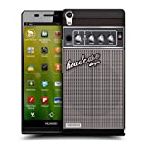 Head Case Designs Grey Distortion Guitar Amp Protective Snap on Hard Back Case Cover for Huawei Ascend P6