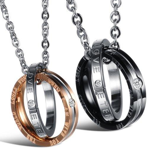 JewelryWe Gioielli collana con pendente da uomo