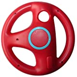 Generic Mario Kart Racing Steering Wheel for Nintendo Wii Remote, Red