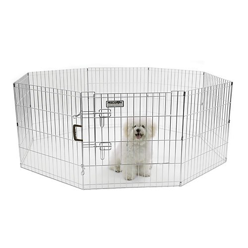 Precision pet boxed exercise pen with door 36 inch silver Dog kennel layouts