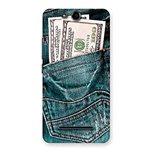 Stylish Pocket Full Jeans Multicolor Back Case Cover for Micromax Canvas Juice 3 Q392