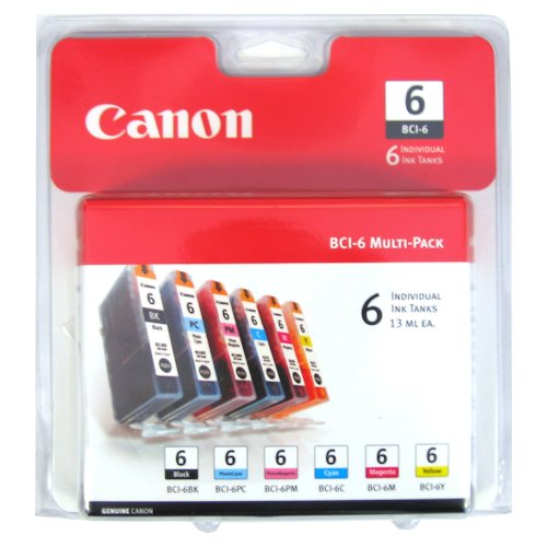 Canon BCI-6 Color Ink Tank 6-Pack SetB0000UIXZ4
