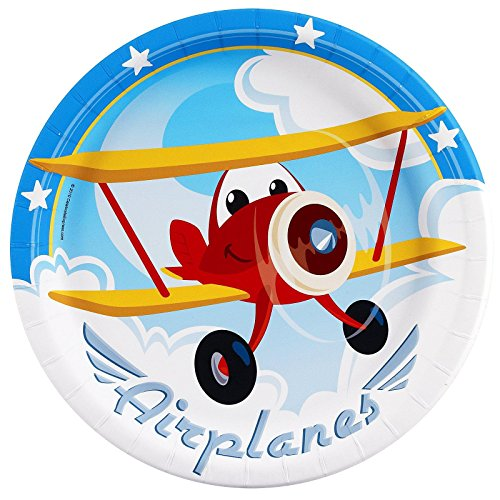 Party Destination 234458 Airplane Adventure Dinner Plates