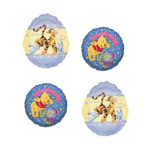 4 Winnie The Pooh Easter Mylar Balloons - Tigger & Pooh Easter Balloon Bundle front-928011