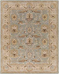 Blue Rug Classic Design 3-Foot 6-Inch Round Hand-Made Traditional Wool Carpet