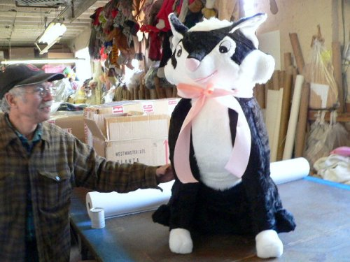 GIANT 3-FEET TALL STUFFED DOMESTIC CAT - 40-INCHES TALL - ABSOLUTELY GIANT SIZED STUFFED PLUSH KITTY CAT KITTEN FUN - AMERICAN MADE IN THE USA AMERICA