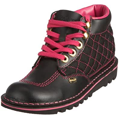 Elegant Home Womens Kickers Kick Hi Pale Pink Boots