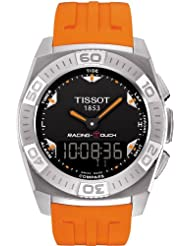 Tissot Men's T002.520.17.051.01 Black Dial Racing Touch Watch