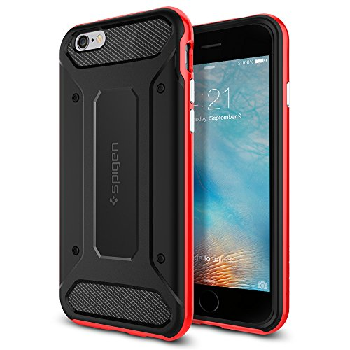 Spigen iPhone6s ケース / iPhone6 ケース, ネオ・ハイブリッド カーボン  [ 米軍MIL規格取得 二重構造 TPU カーボンテクスチャー ] アイフォン6s / 6 用 (ダンテ・レッド SGP11623)
