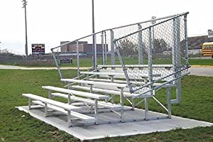 15 Stationary Aluminum Bleachers 4 Rows by SSG / BSN