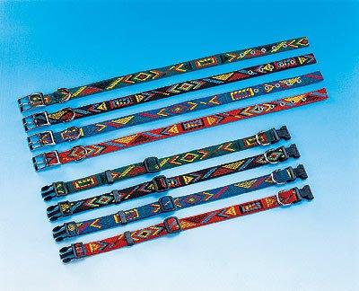 tolles Halsband – Hundehalsband mit indianischem Muster / Click Verschluss