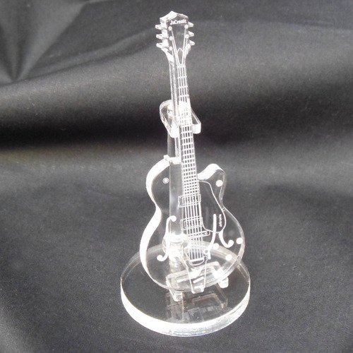 JzCreate Clear Acrylic Miniature Guitar (GR shape) - 1