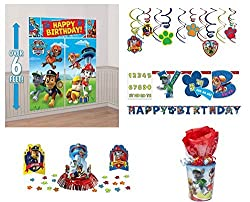Paw Patrol Party Supplies Decorations Kit *Free Gift*