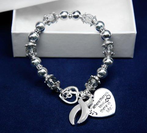 Gray Ribbon Bracelet-Where There Is Love (18 Bracelets)