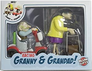Wind Up Racing Granny and Grandpa Novelty Gag Gift Toy