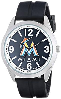 "Game Time Men's MLB-VAR-MIA ""Varsity"" Watch - Miami Marlins"