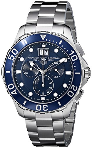 tag-heuer-aquaracer-grande-date-mens-quartz-watch-with-blue-dial-chronograph-display-and-silver-stai