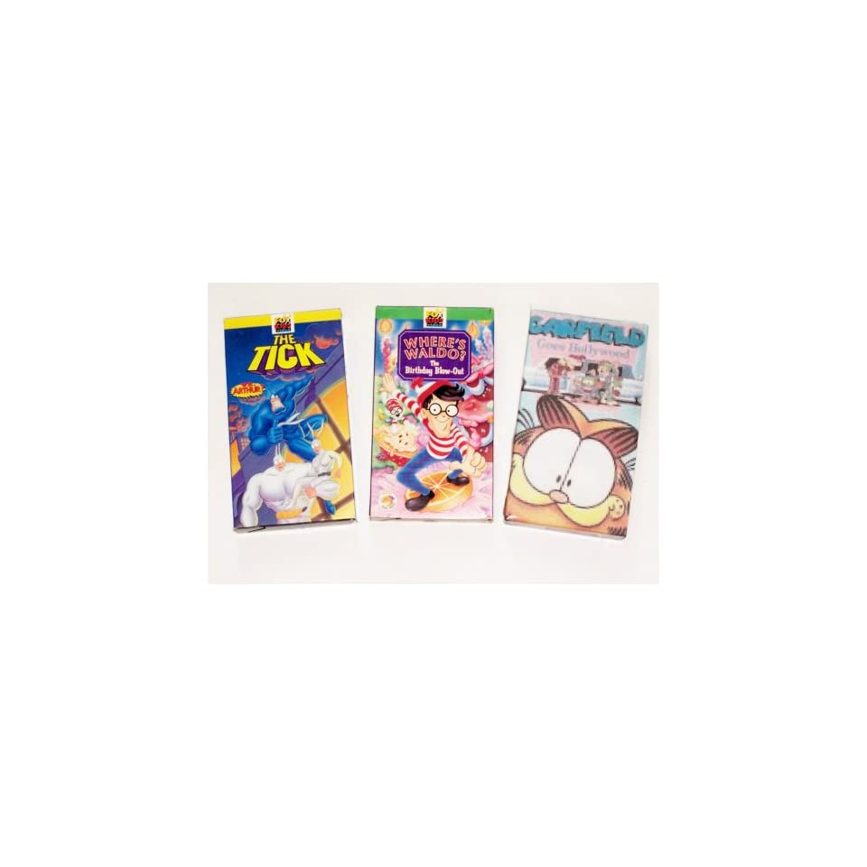 Fox Kids Video Collection (3 Pack) The Tick Vrs Arthur, Garfield Goes