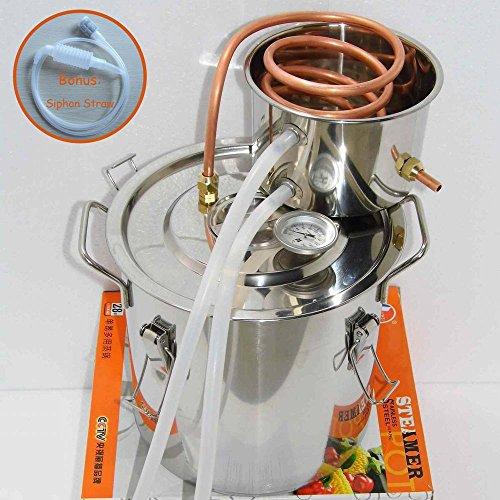 Seeutek DIY 3 Gal Water Alcohol Wine Distiller Moonshine Still Stainless Boiler 10-12L