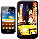 Yellow Taxi Cab in New York Times Square USA Hard Case Clip On Back Cover For Samsung Galaxy ACE 2 i8160