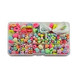 Lbyurs Amblyopia training Colorful Children Plastic Jewelry DIY Beads kits Bracelet Crafts (15 Styles)