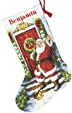519Va6WjhnL. SL160  Dimensions Cross Stitch Christmas Stockings Welcome Santa