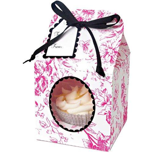 Meri Meri Cupcake Box Toile, Small 4-Pack