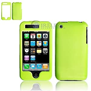 Neon Green Protex Snap-On Cover Hard Case Cell Phone Protector for Apple iPhone 3G i-phone