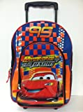 Disney Pixar Cars Rolling Backpack - Full Size Mcqueen School Luggage