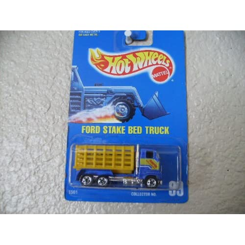 Hot Wheels Ford Stake Bed Truck All Blue Card #99 Toys