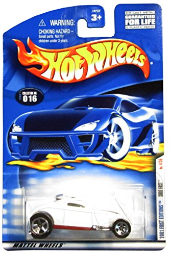 2001 - Mattel - Hot Wheels - First Editions - Sooo Fast - No. 4/36 0 Collector #016 - White Metallic / Red Metallic Malaysian Base - 5 Spoke Wheels - Out of Production - New - Collectible