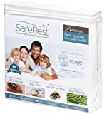SafeRest Hypoallergenic Waterproof Zippered Certified Bed Bug Proof Box Spring Encasement With 360 Secure Zipper Feature 9