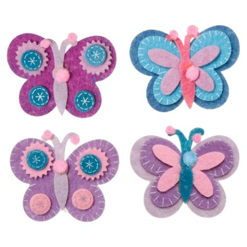 WeGlow International Felt Embellishment Blue and More Butterflies, Set of 8 - 1