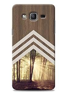 SKIMIJO Designer Printed Vintage wooden back case cover for Samsung Galaxy On5