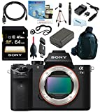 Sony Alpha a7II ILCE7M2 ILCE-7M2 (Body) Luxurious Bundle + Sony 64GB + Vanguard Camera Mold Sling Backpack + Full Size Tripod + Battery + Charger + Cleaning Kit + Card Reader + Rocket Air Blower Interchangeable Digital Lens Camera ILCE7MII A7M2 A72