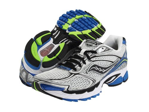 Saucony Men's Progrid Guide 4 Running Shoe,White/Royal/Citron,9 M US