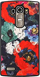 PrintVisa 2D-LGG4-D7969 Pattern Abstract Floral Case Cover for LG G4