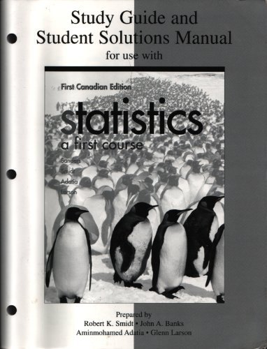 Study guide and student solutions manual for use with Statistics, a first course, first Canadian edition PDF